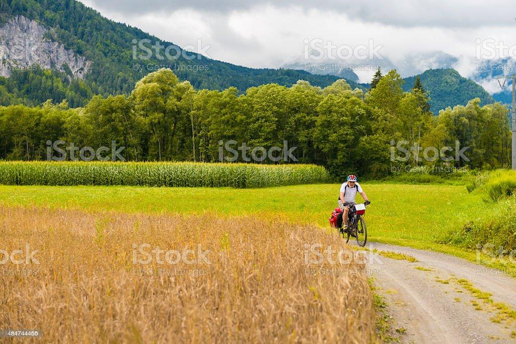 Ciclismo Drava de ciclismo en ruta - foto de stock
