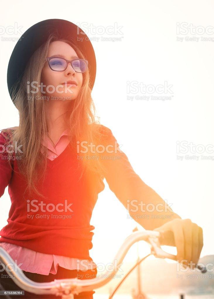 Cycling beauty stock photo