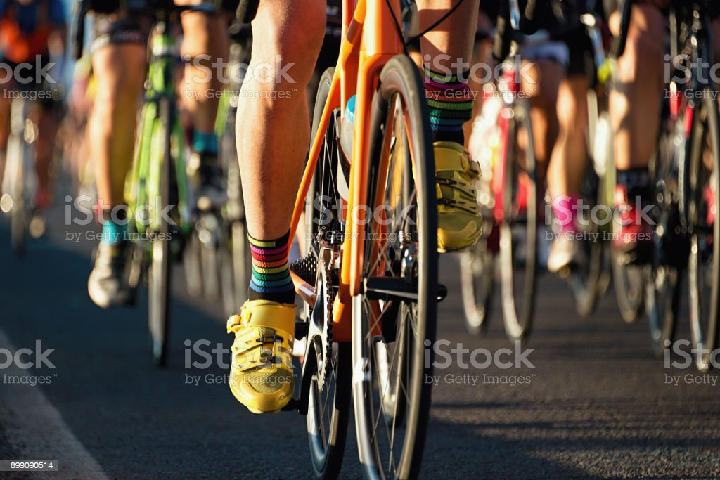 Cycling competition,cyclist athletes riding a race - fotografia de stock