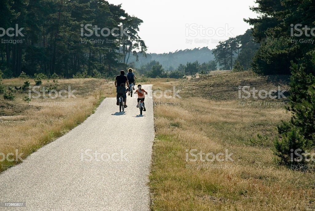 Cycling Family royalty-free stock photo