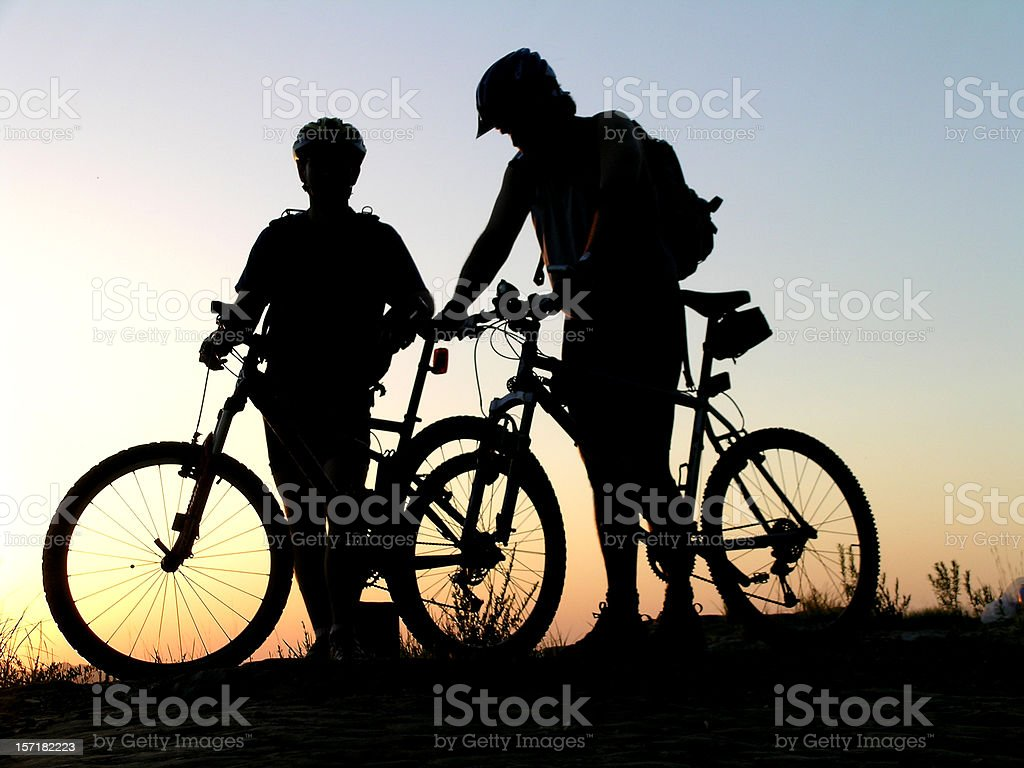 Cycling Friends stock photo