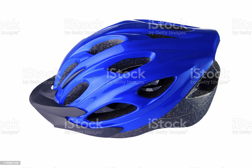 Cycling helmet on a white background stock photo