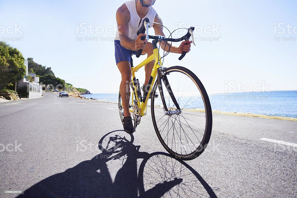 Cycling his way to a higher form of fitness stock photo