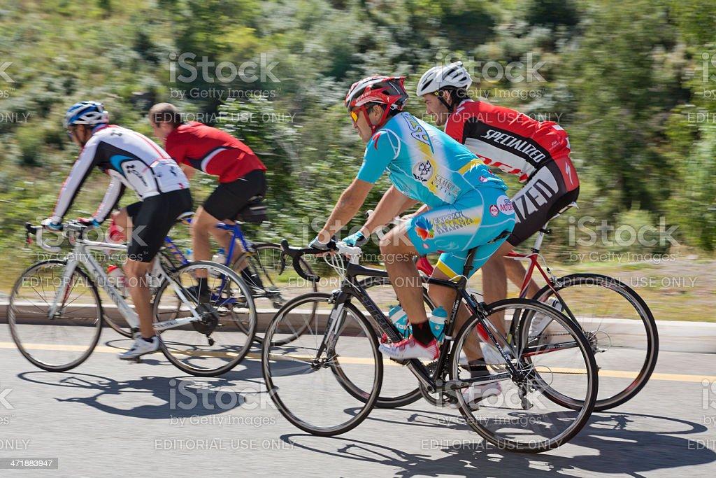 Cycling in Almaty, Kazakhstan royalty-free stock photo