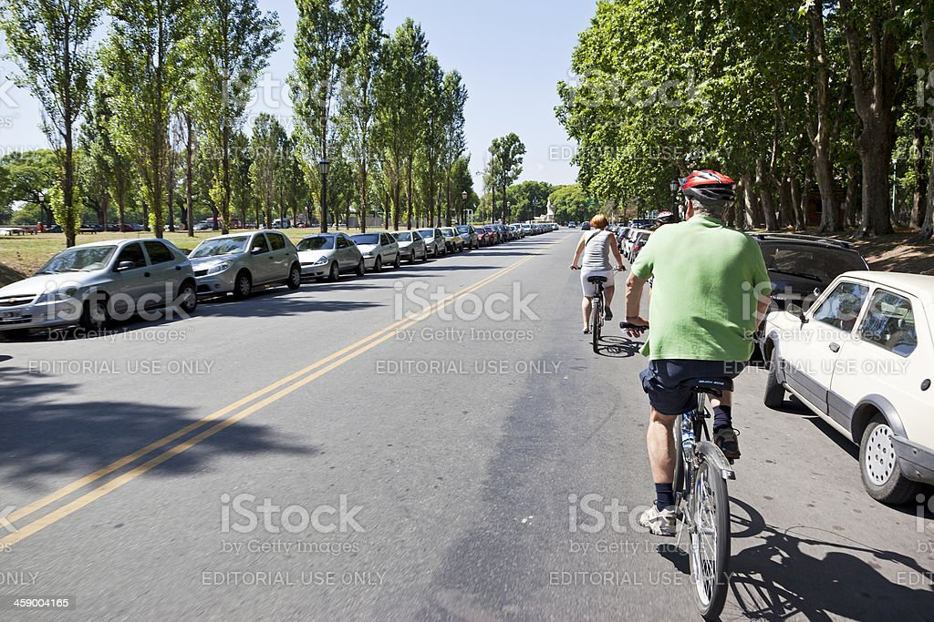 Cycling in Buenos Aires royalty-free stock photo