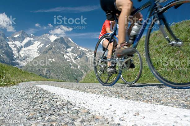 Cycling in french alps, tour de Cycling in the mountain, french Alps Tour de Active Lifestyle Stock Photo