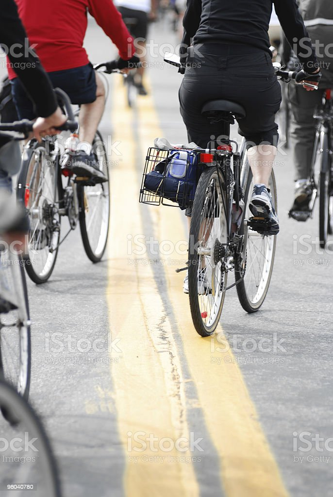 Ciclismo in gruppo foto stock royalty-free