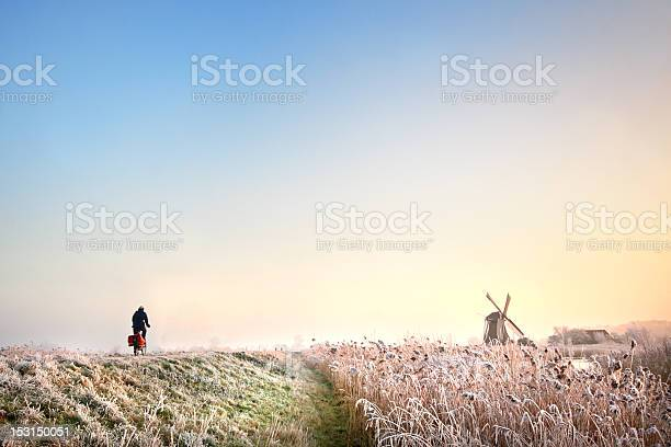 Cycling In Holland Stock Photo - Download Image Now