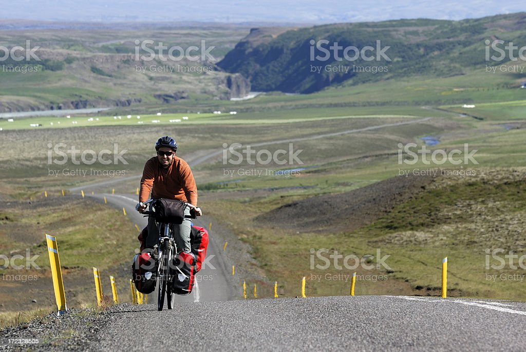 cycling in Iceland royalty-free stock photo