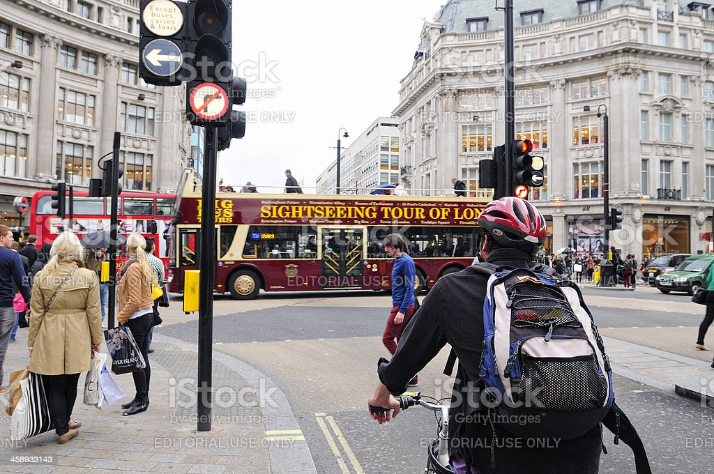 Cycling in London royalty-free stock photo