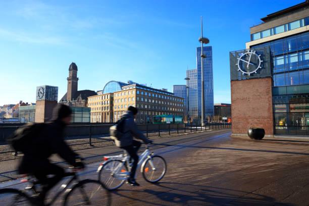 cykla i malmö - malmö bildbanksfoton och bilder