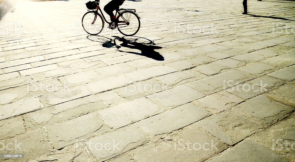 Cycling in the City, London - England royalty-free stock photo