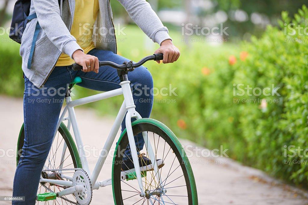 Cycling man stock photo