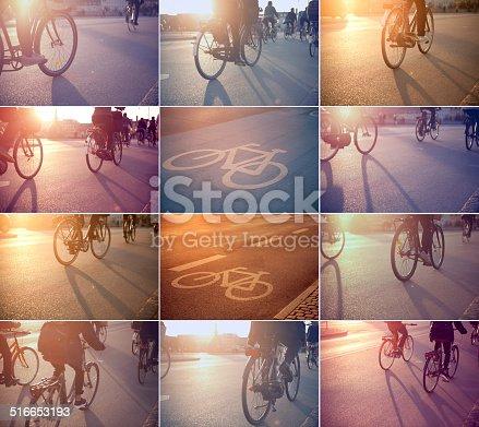 863454090istockphoto Cycling on city street. 516653193