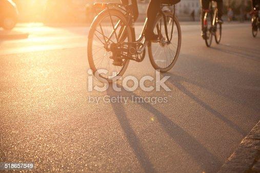 863454090istockphoto Cycling on city street. 518657549