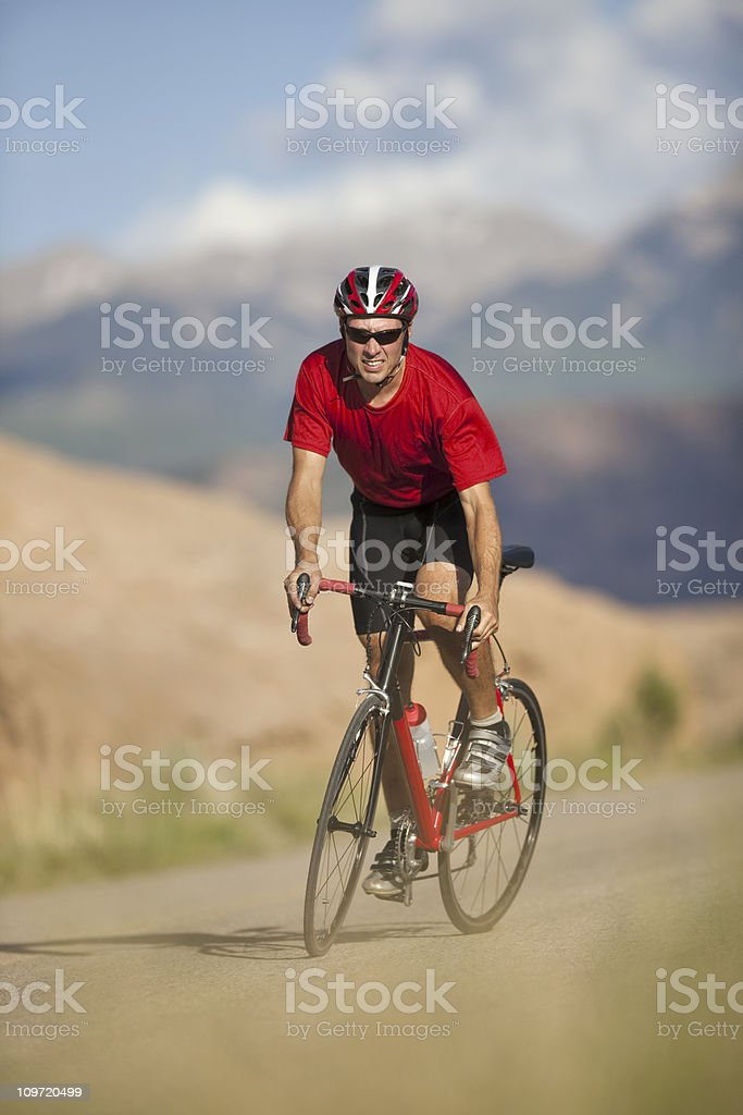 Cycling On Slickrock Trail In Moab, Utah royalty-free stock photo