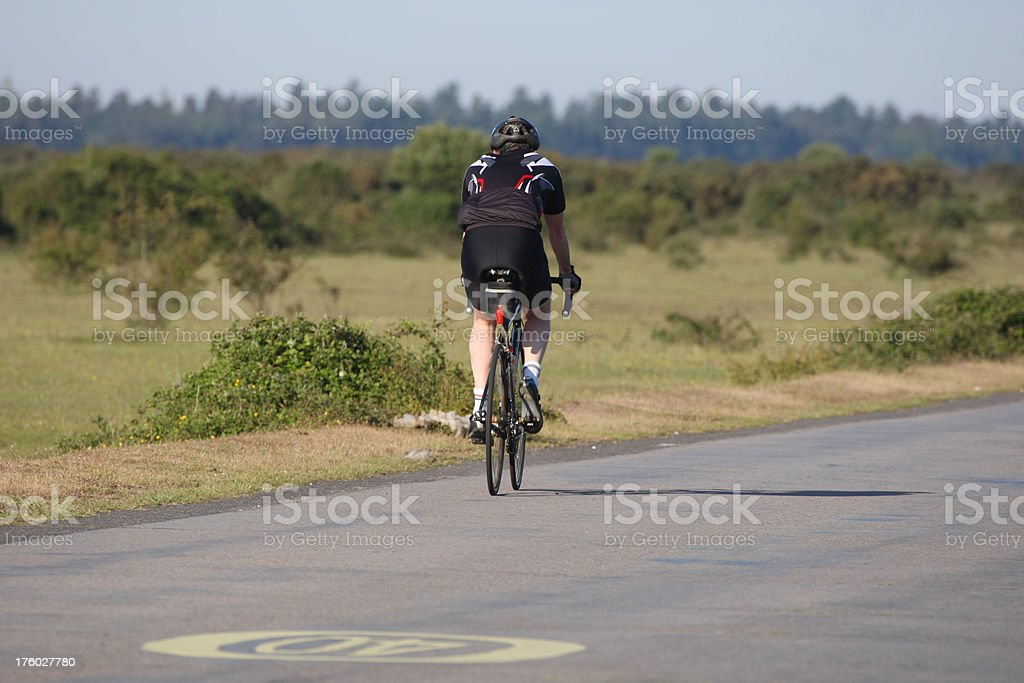 Cycling on the new forest stock photo