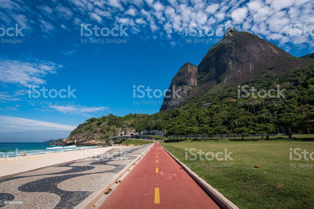 Cycling Path in Rio de Janeiro stock photo