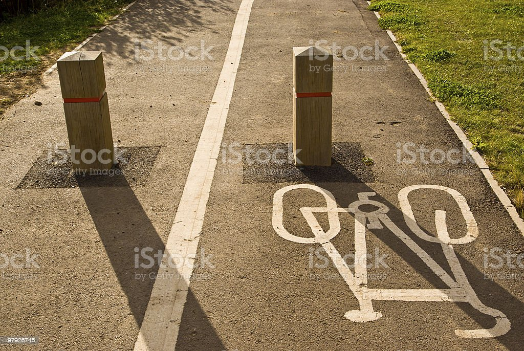 Cycling path royalty-free stock photo