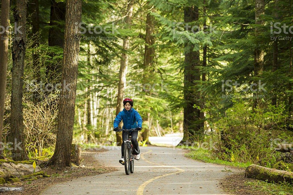 Cycling royalty-free stock photo