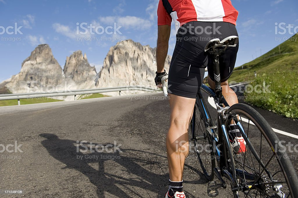 Cycling Race driver is the start royalty-free stock photo