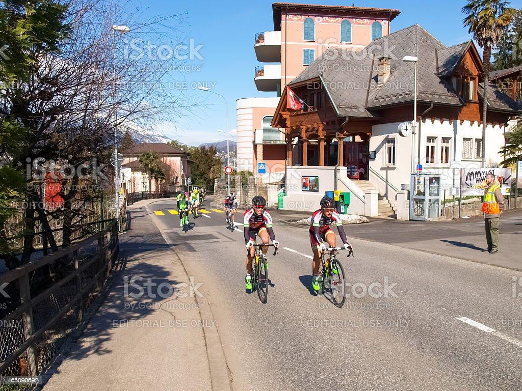 Cycling race Grand Prix of Lugano in 2015 stock photo