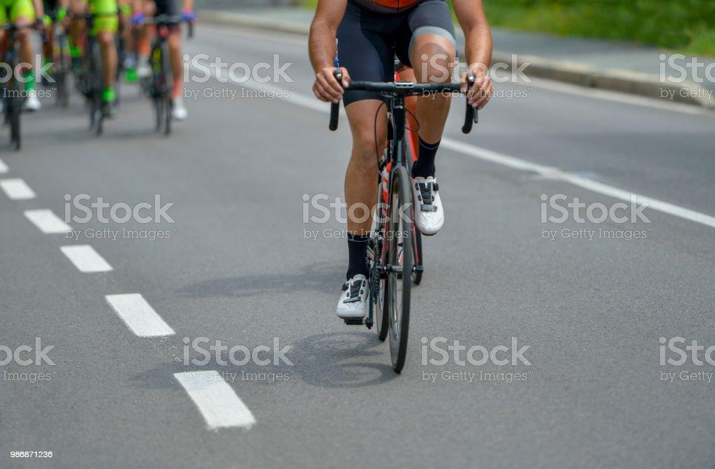 cycling race stock photo