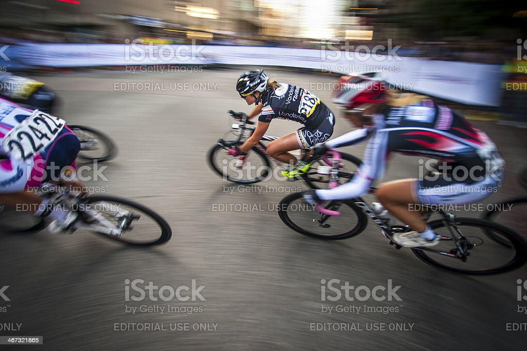 Cycling race, the 2013 Gastown Grand Prix. stock photo
