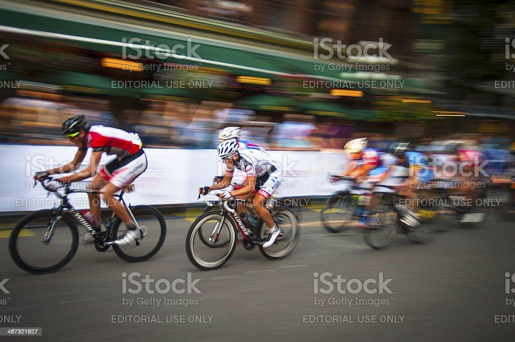 Cycling race, the 2013 Gastown Grand Prix. stock photo