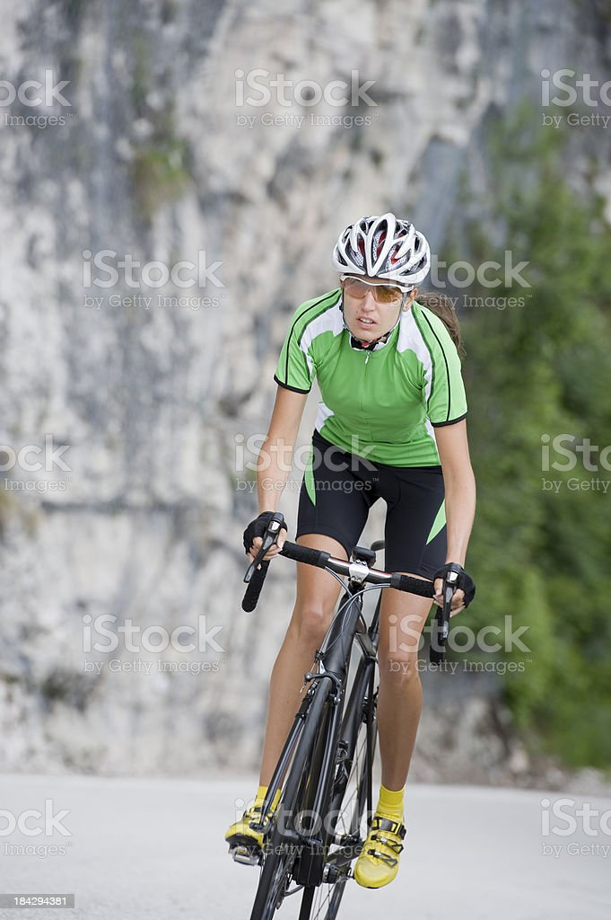 Cycling racing driver vertical royalty-free stock photo