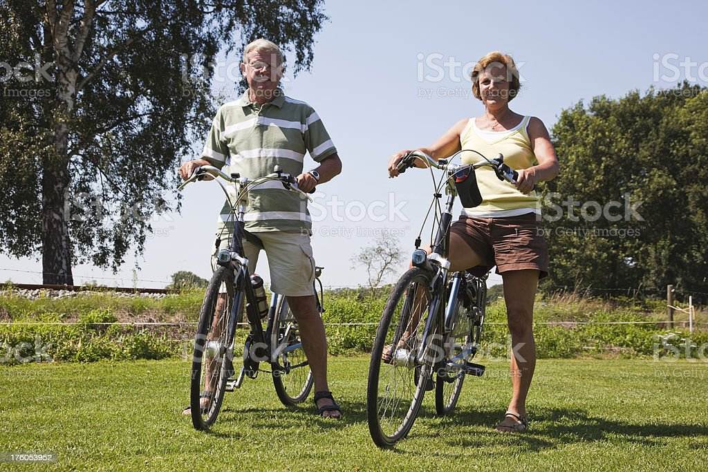 Cycling seniors # 1 XXXL royalty-free stock photo