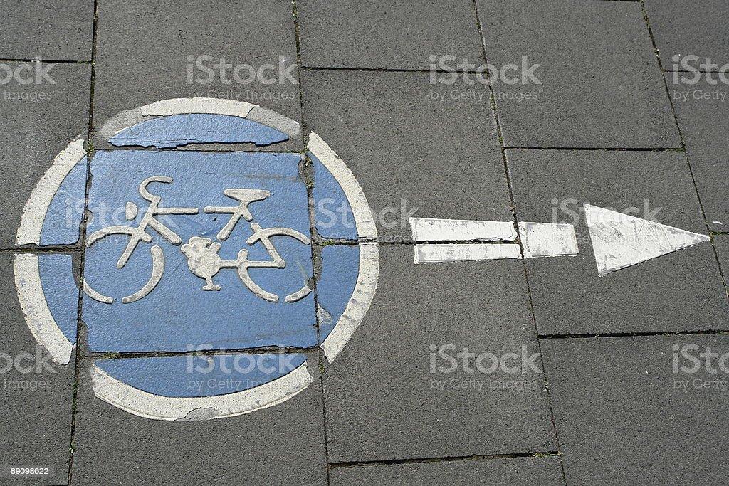 Señal de ciclismo foto de stock libre de derechos