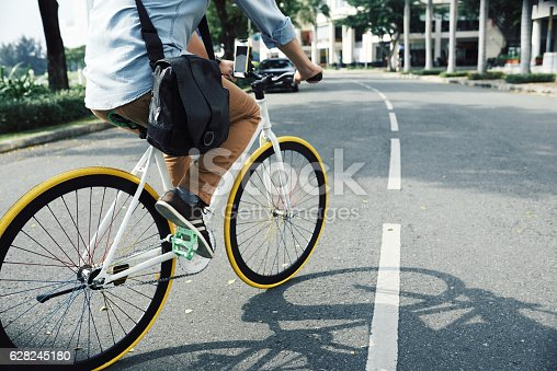 istock Cycling to work 628245180