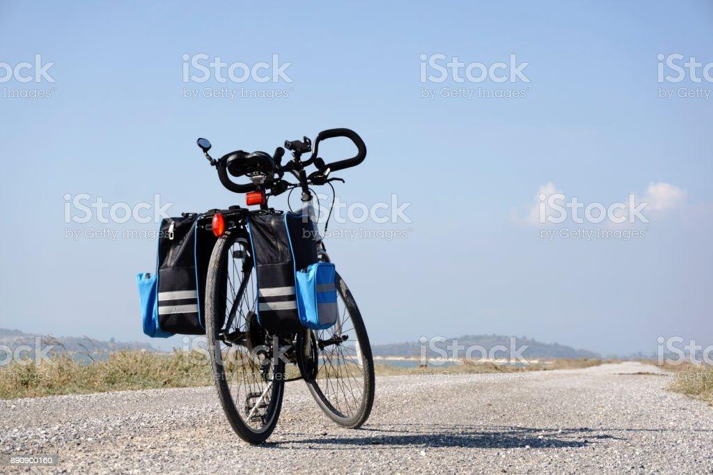 Ciclismo recorrido en - foto de stock