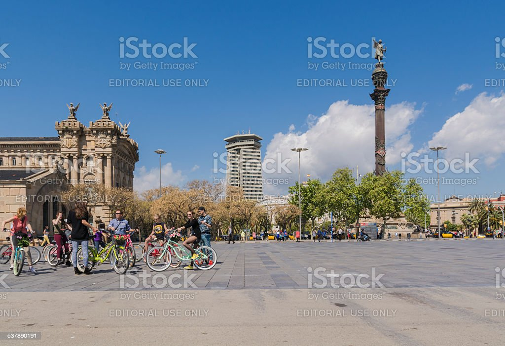 cycling tourists stock photo