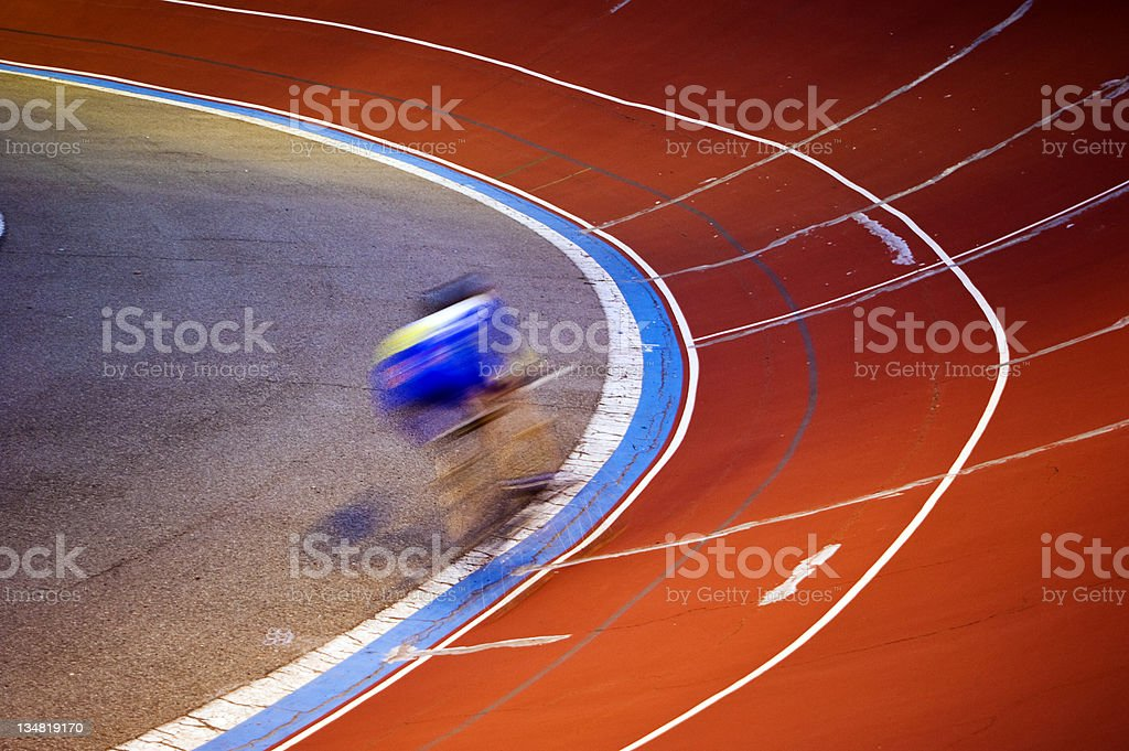 Cycling Velodrome running stock photo