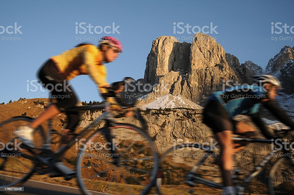 Radfahren mit den Rennrad royalty-free stock photo
