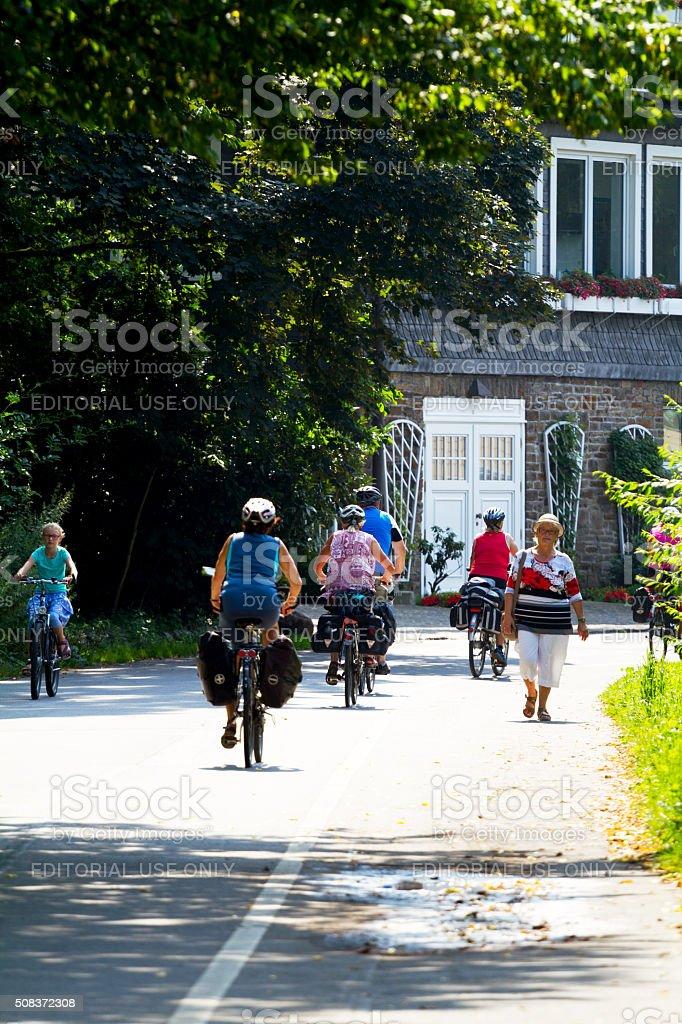 Radfahrer auf See Baldeneysee – Foto