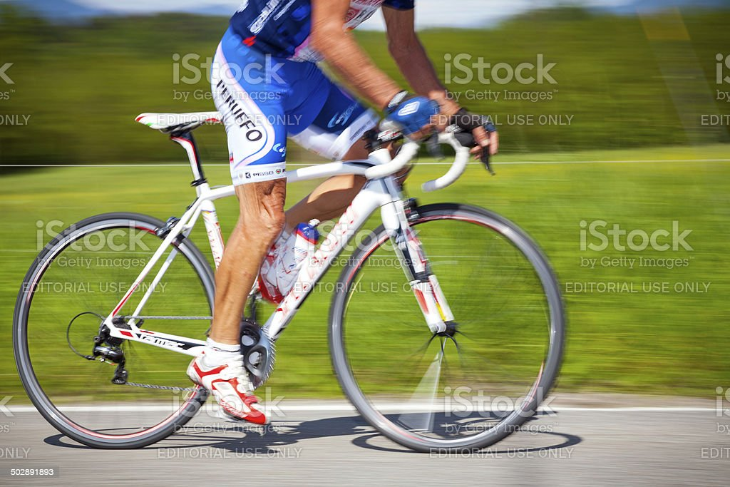 Cyclist. Color image stock photo