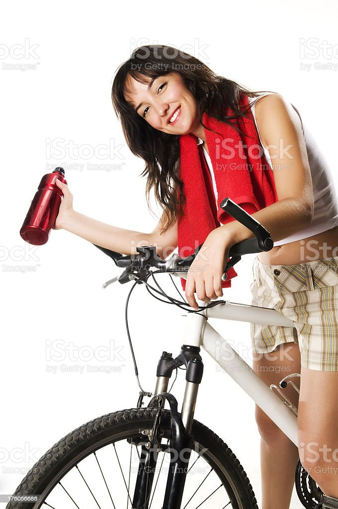 Cyclist girl royalty-free stock photo