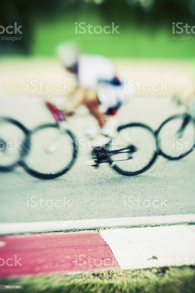 Radfahrer in circuit – Foto