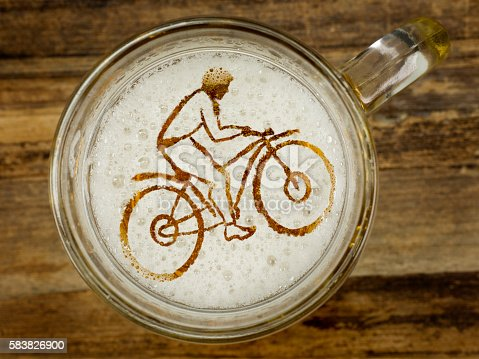 istock cyclist in beer foam 583826900