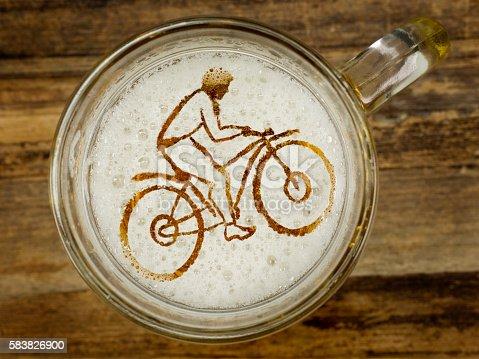 istock cyclist in beer foam 583826900