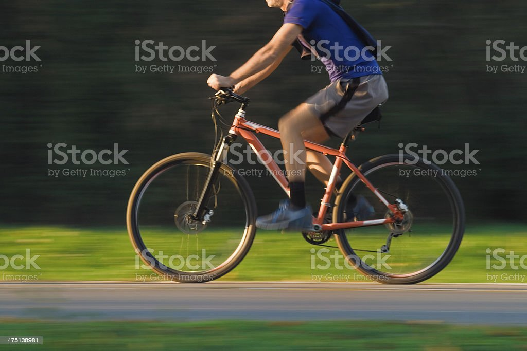 Cyclist in Blurred Motion royalty-free stock photo