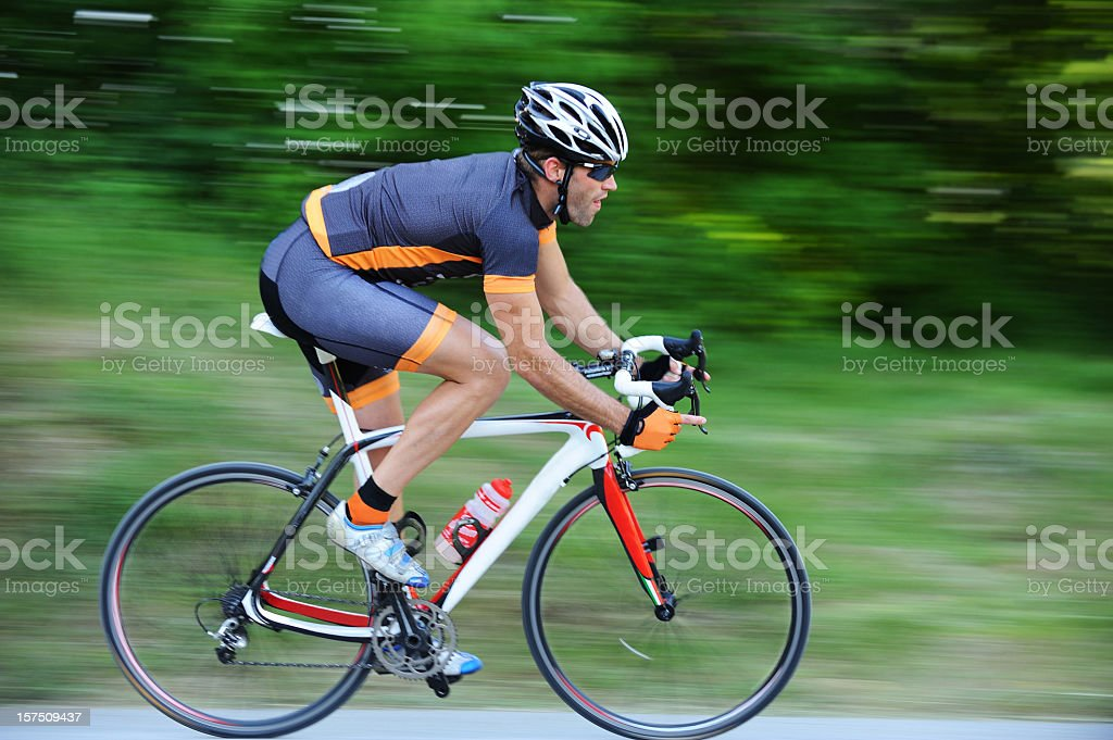 Cyclist in the action royalty-free stock photo