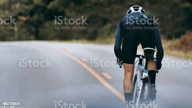 Photo of Cyclist increase speed by sprint.