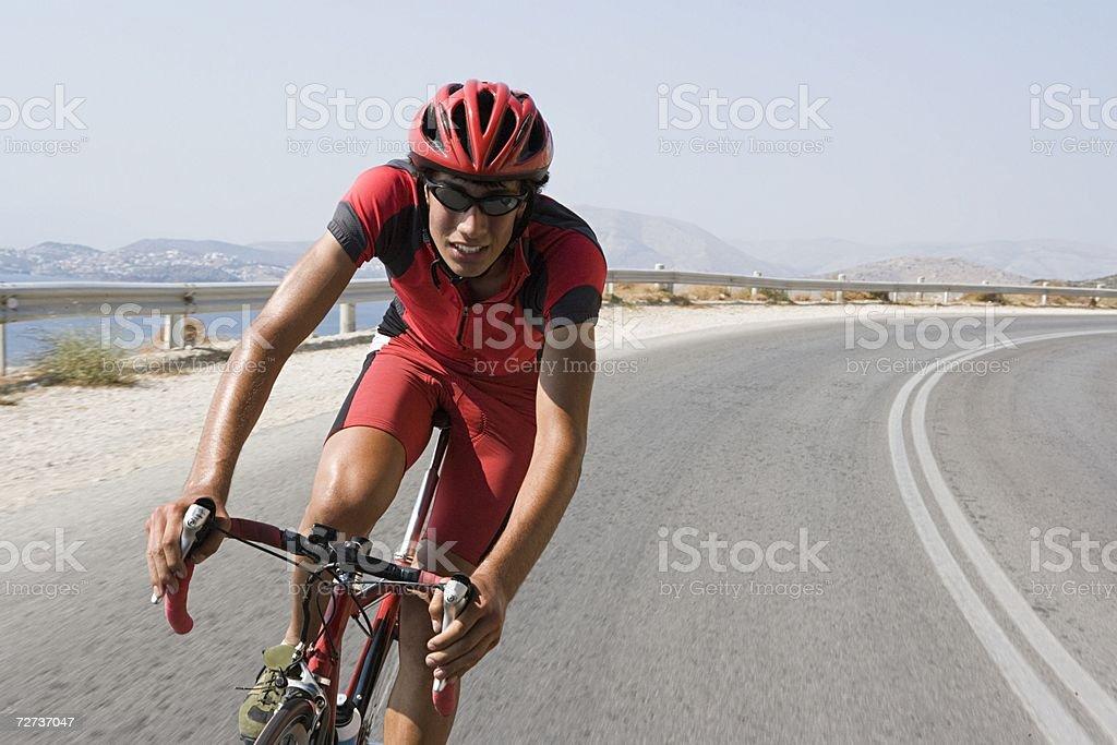 Ciclismo en ruta foto de stock libre de derechos