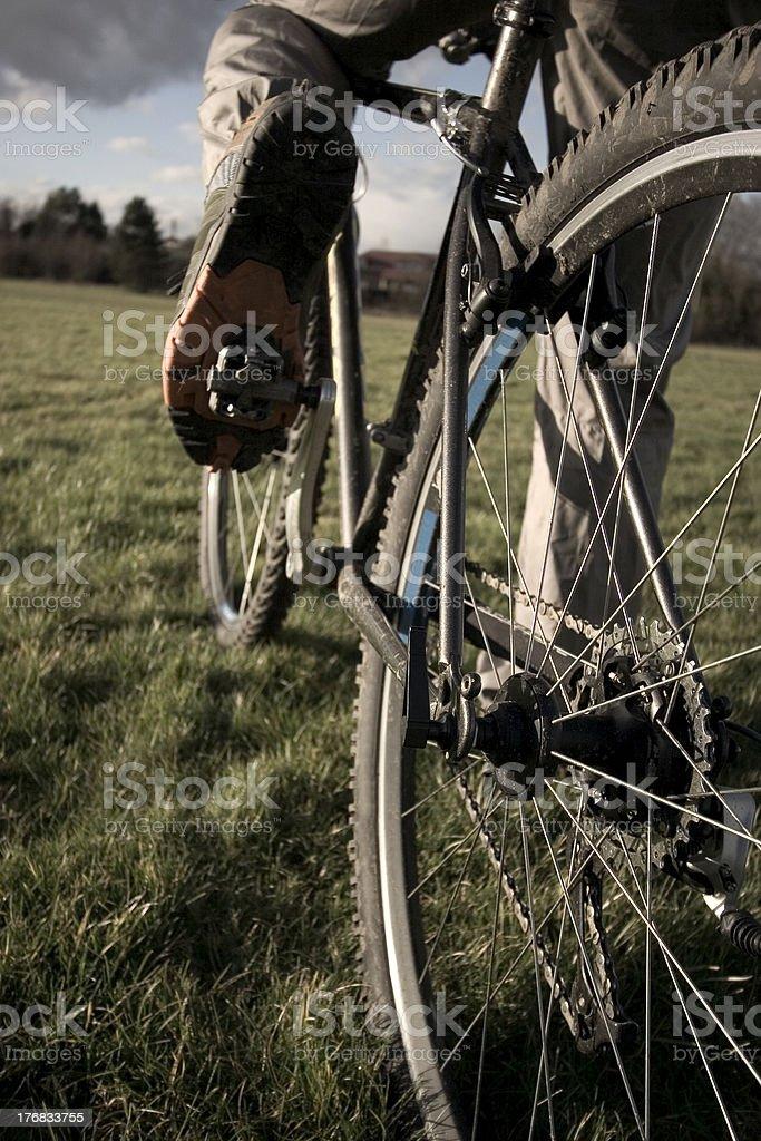 cyclist peddling royalty-free stock photo