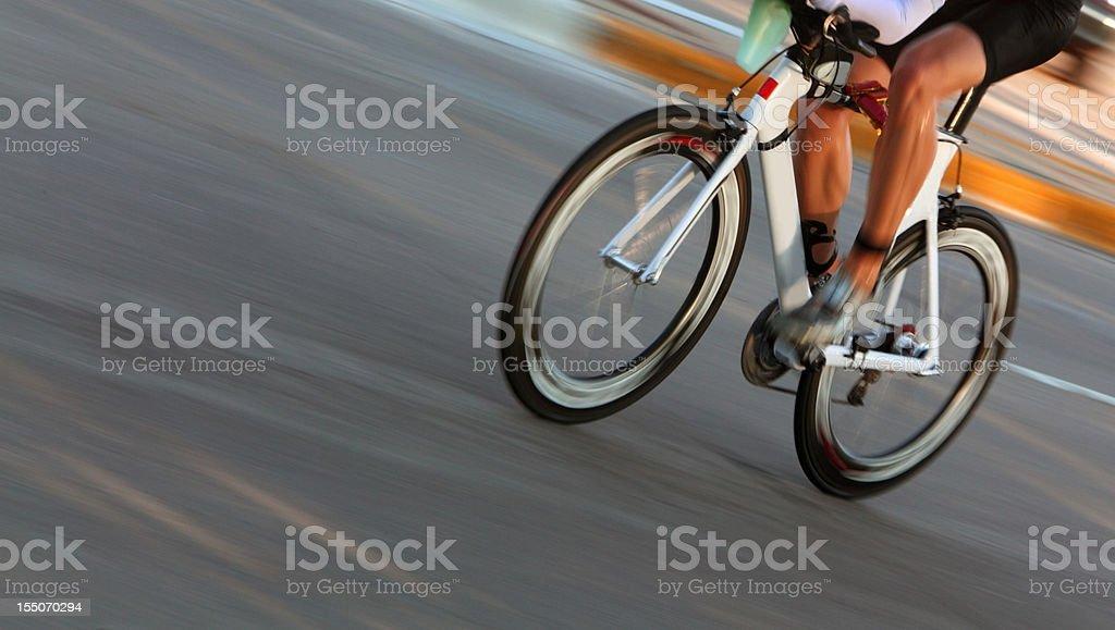Cyclist royalty-free stock photo