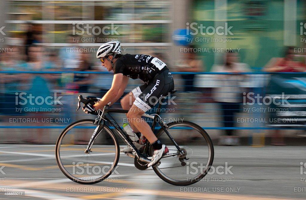 Cyclist racing - Burnaby stock photo